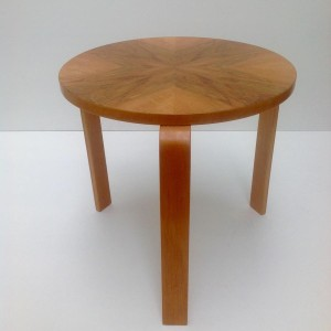 Radial veneered Side Table